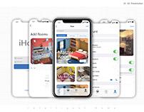 iHome | iOS 11 | iphone X | App Presentation