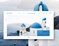 Santorini Website Concept