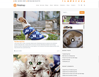 Blog Right Sidebar - Petshop WordPress Theme