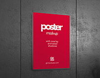 Poster Mock-up with Animated Shadow