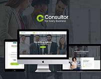 Consultor | A Business Financial Advisor PSD Template