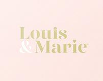 Louie & Marie – Premium Dessert Logo & Packaging Design