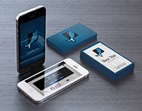 Business card and phone mock-ups