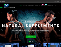 Ui/Ux designer - Mockup: Angry Supplements