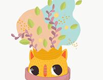 Pot, cat, king