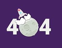 Moon landing 404 Principle animation