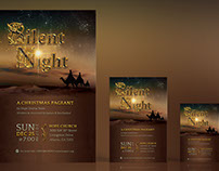 Silent Night Flyer Poster Template