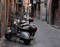 In the street of Naples - Italy