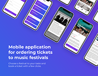 Mobile UI Design: application for ordering tickets
