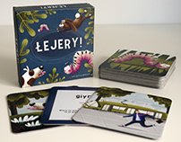 Łejery - illustrated flash cards for kids/ art diploma