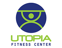 Utopia Fitness Center Logo Design