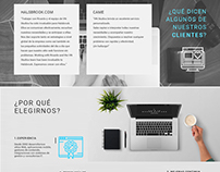 Landing page, flyer, e-mail Mockup  - 2016