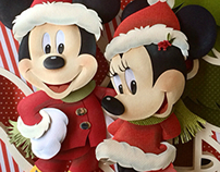 Disney Xmas Paper Sculpture