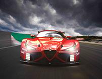 Alfa romeo GTE_pro concept car