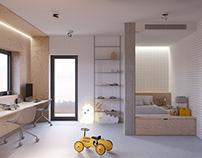 Pokój dla dziecka | sklejka | beton