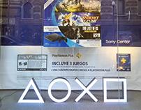 Vidriera Hits Bundle PlayStation Galerías Pacífico