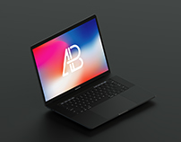 Isometric 2017 Macbook Pro Mockup