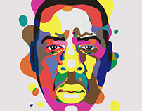 Overlay Portraits Jay Z Bowie