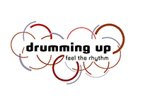 drumming up; feel the rhythm - graphic design