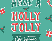 Festive Typographic Christmas Cards