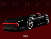 Ferrari Monza SP1/SP2 livery design concepts
