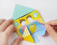illustration|BabyDJ 摺紙插畫設計