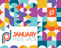 January Print Pack By Designrar