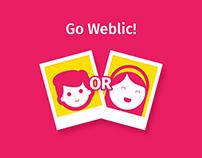 Go Weblic! App design