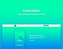 Execution App Landing Homepage Concept.