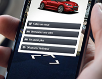UI & UX application design - Peugeot