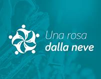 Una rosa dalla neve - logo, immagine coordinata