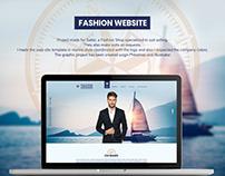 Fashion Shop Website Design UX UI man suit