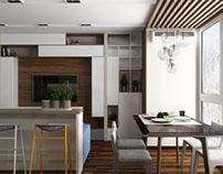 Interior design of apartment in Kiev. Studio