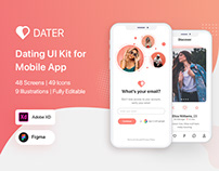 Dater - Dating UI Kit For Mobile App