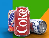 Soft Drink Can Mock up