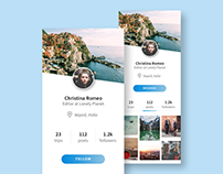 Daily UI #006 - User Profile, Lonely Planet