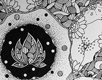 Zen lotus reflection