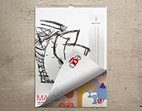 illustration - Wall Calendar - Design Pioneers