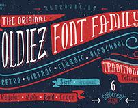 Oldiez Font Family + bonus