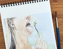 Dandelion | Watercolor drawing