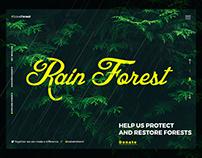 Save Forest Website Header UI