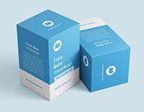 Free box mockup / 80x130x80 mm