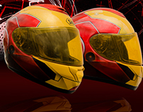Airbrush helmet iron man