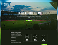 Sports Team Web UI Design