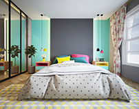 Colorful Master Bed Room
