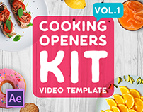 Cooking Intros / Openers - vol 1 | After Effects Templa
