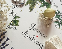 Wedding invitation J&A