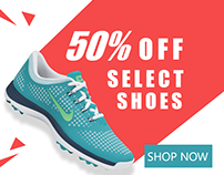 Banner Ad for Foot Wear Brand