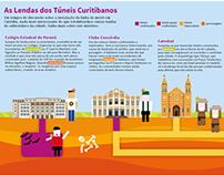 """""""As Lendas dos Túneis Curitibanos"""" Infographic"""