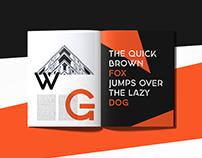 Georgina - A free Stencil Hybrid Font